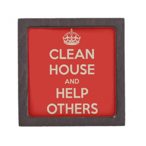 Limpie la casa y ayude a otras caja de joyas de calidad
