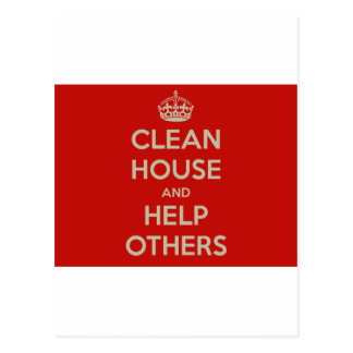 Limpie la casa y ayude a otras postal
