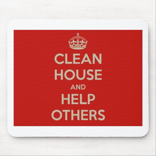 Limpie la casa y ayude a otras tapete de ratón