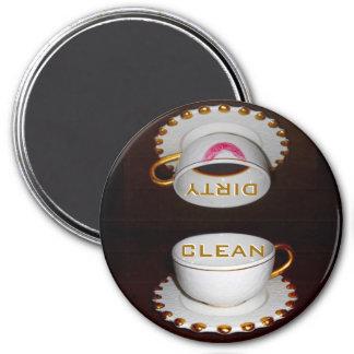 Limpie la cocina sucia del lavaplatos imán redondo 7 cm