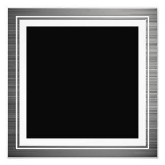 Limpie la frontera metálica de plata del borde fotografía