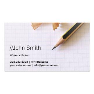 Limpie la tarjeta de visita aguda del escritor/del
