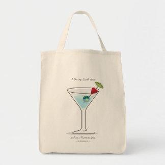 ¡Limpie la tierra Martini sucio Bolsas De Mano
