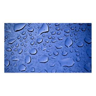 Limpie las gotitas de agua azul plantillas de tarjetas personales