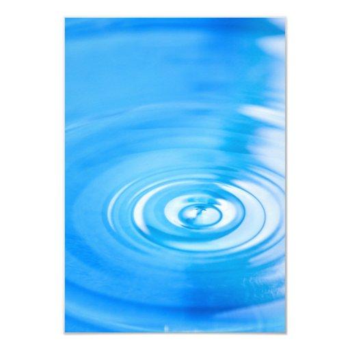 """Limpie las ondulaciones del agua azul invitación 3.5"""" x 5"""""""