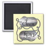 Limpie las placas de identificación sucias 4 (el i iman