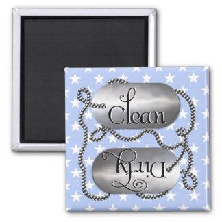 Limpie las placas de identificación sucias 9 (el imán cuadrado