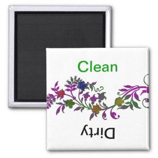 Limpie/lavaplatos sucio iman de nevera