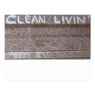 Limpie Livin' 'puerta posterior Talk Postales