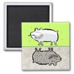 limpie/los animales sucios (el lavaplatos) iman de nevera
