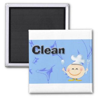 Limpie los platos - blanco imán