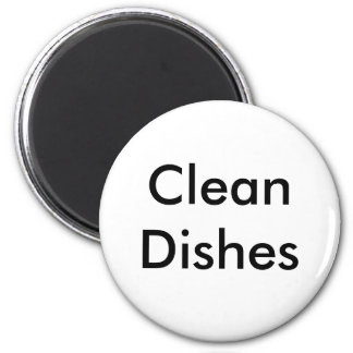 Limpie los platos iman para frigorífico