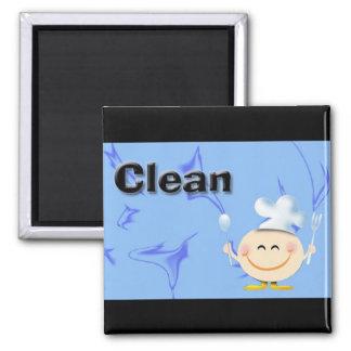 Limpie los platos imán para frigorifico