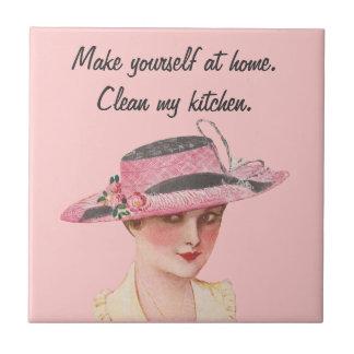 Limpie mi cocina azulejo cuadrado pequeño