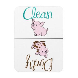 Limpie/pequeño imán sucio del lavaplatos del cerdo
