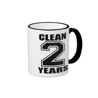 limpie tres años de negro taza de dos colores