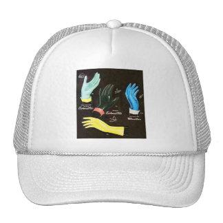 Limpieza de goma de los guantes del kitsch 60s del gorros bordados