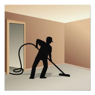 Limpieza de la alfombra invitación 13,3 cm x 13,3cm