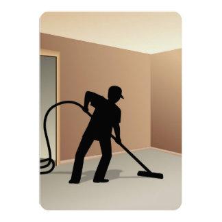 Limpieza de la alfombra invitación 12,7 x 17,8 cm