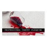 Limpieza de la alfombra, suelo, negocio de los tarjeta personal
