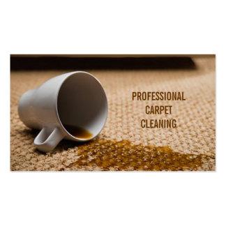 Limpieza de la alfombra, suelo, negocio de los tarjetas de visita