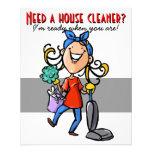 Limpieza de la casa, negocio de encargo promociona tarjetas publicitarias