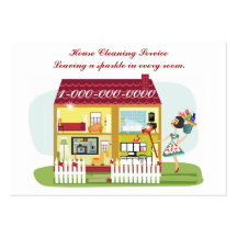Limpieza de la casa plantilla de tarjeta de visita