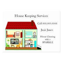 Limpieza de la casa plantilla de tarjeta de negocio