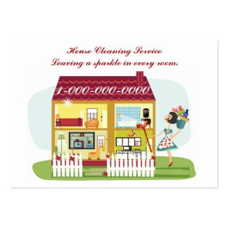 Limpieza de la casa tarjetas de visita grandes