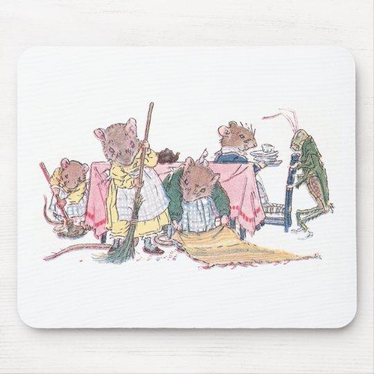 Limpieza de los ratones, el barrer, etc. alfombrillas de raton