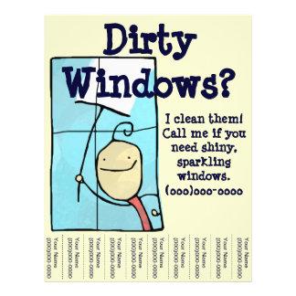 """Limpieza de ventana folleto 8.5"""" x 11"""""""