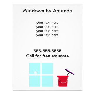 "Limpieza de ventana promocional folleto 4.5"" x 5.6"""