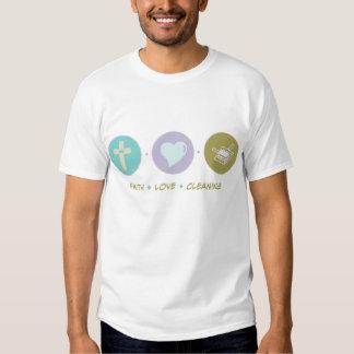 Limpieza del amor de la fe camisas