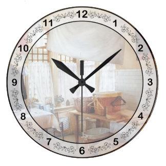 Limpieza - el lavadero reloj redondo grande