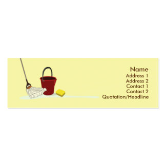 Limpieza - flaca tarjetas de visita mini