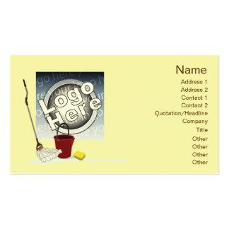 Limpieza - negocio tarjeta personal
