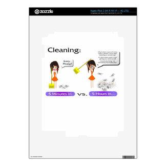 Limpieza. Nunca una buena idea Pegatina Skin Para iPad 3