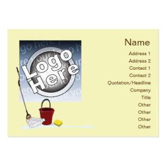 Limpieza - rechoncha plantilla de tarjeta personal