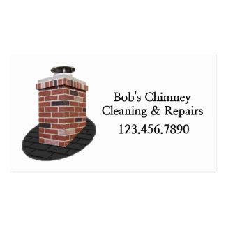 Limpieza y reparaciones del barrido de chimenea tarjetas de visita