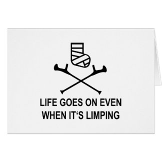 limping card