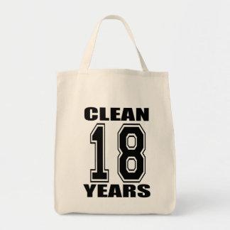 limpio eightteen el bolso de los años bolsa tela para la compra
