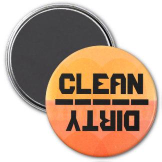¿Limpio o sucio? v.2 Imán Redondo 7 Cm