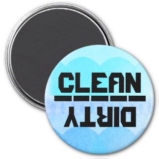 ¿Limpio o sucio? v.3 Imán Redondo 7 Cm