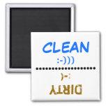 Limpio-Sucio - imán del lavaplatos