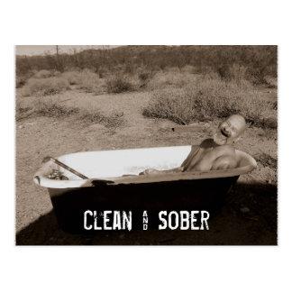 Limpio y sobrio postales