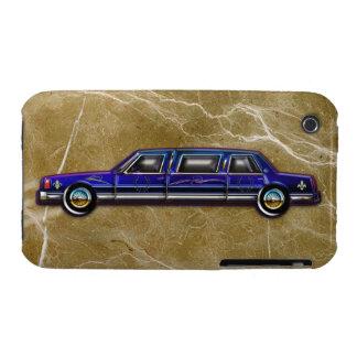 Limusina de estiramiento azul marino clásica de iPhone 3 carcasas
