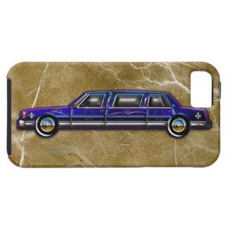 Limusina de estiramiento azul marino clásica de iPhone 5 carcasas