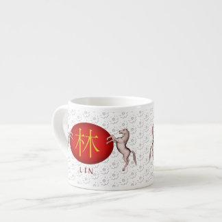 Lin Monogram Horse Espresso Cup