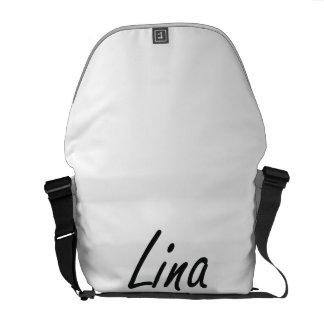 Lina artistic Name Design Courier Bags