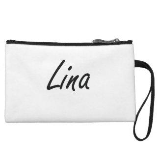 Lina artistic Name Design Wristlet Purses